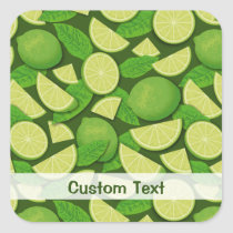 Lime Background Square Sticker