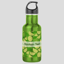 Lime Background Stainless Steel Water Bottle