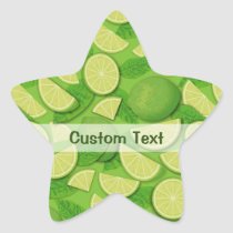Lime Background Star Sticker