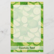 Lime Background Stationery