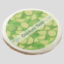 Lime Background Sugar Cookie