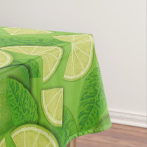 Lime Background Tablecloth