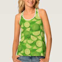 Lime Background Tank Top