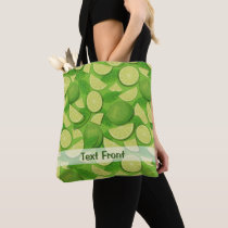 Lime Background Tote Bag