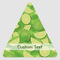 Lime Background Triangle Sticker