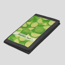 Lime Background Trifold Wallet
