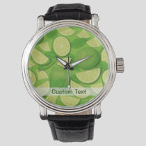 Lime Background Watch