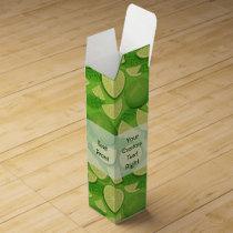 Lime Background Wine Box