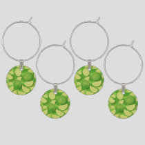 Lime Background Wine Charm