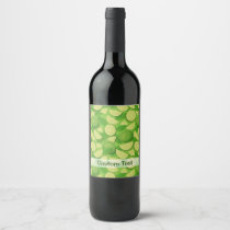 Lime Background Wine Label