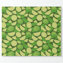 Lime Background Wrapping Paper