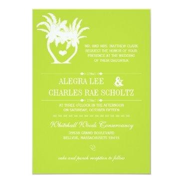 Beach Themed Lime Beach Palm Tree Destination Chalkboard Card