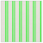 [ Thumbnail: Lime & Beige Colored Lines/Stripes Pattern Fabric ]