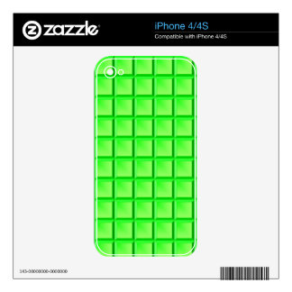 Lime Bevel Decal For iPhone 4S