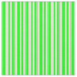 [ Thumbnail: Lime & Bisque Colored Lines Fabric ]
