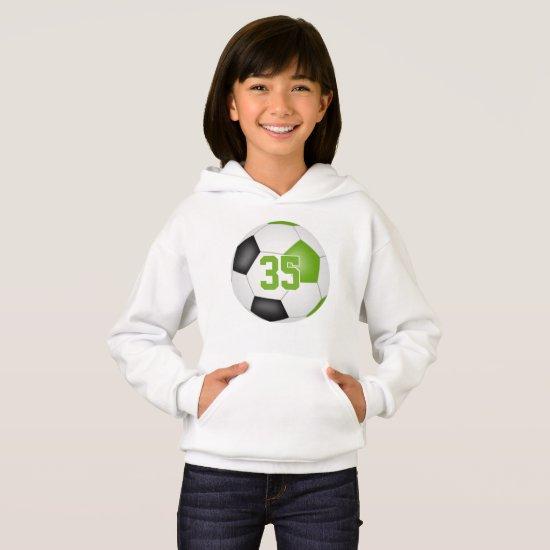 lime black kids jersey number soccer hoodie