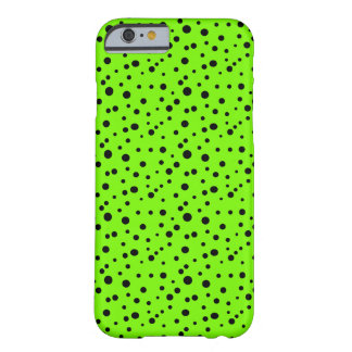 Lime Black Polka Dots Pattern Summer CricketDiane Barely There iPhone 6 Case