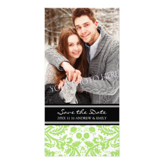 Lime Black Save the Date Wedding Photo Cards