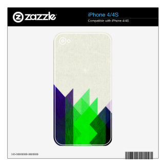 Lime & Blue Geometric Design iPhone 4S Decal