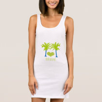 Lime Blue Palm Tree Beach Wedding T-SHIRT