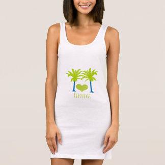 Lime Blue Palm Tree Beach Wedding T-SHIRT