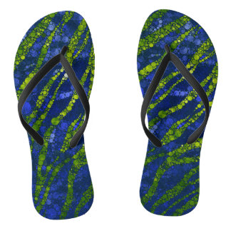 Lime Blue Zebra Abstract