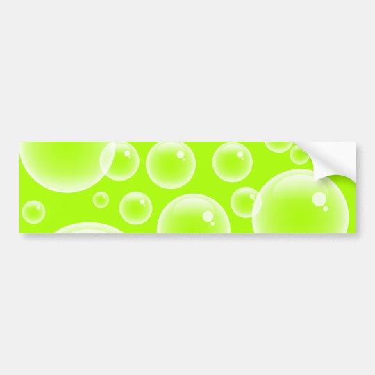 Lime Bubbles Bumper Sticker