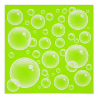 Lime Bubbles Poster