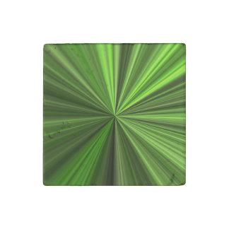 Lime Burst Stone Magnet