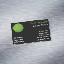Lime Business Card Magnet