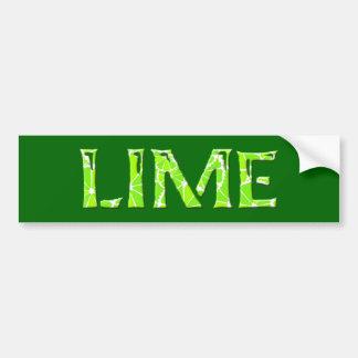 Lime Car Bumper Sticker