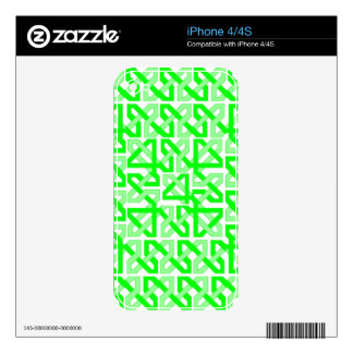 Lime Chains Skin For iPhone 4