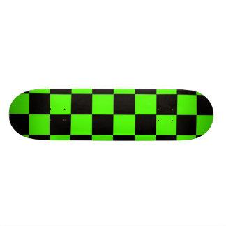 Lime Checks Custom Skate Board