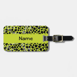 Lime Cheetah Skin Pattern Tag For Bags