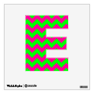 Lime Chevron Letter E Wall Sticker