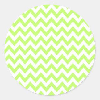 Lime Chevron Stickers