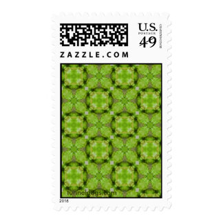 Lime Chiffon Postage Stamps