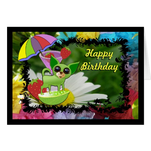 Lime Chihuahua Greeting Cards