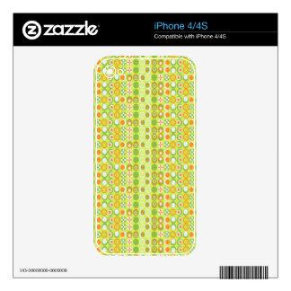 Lime Circle Pattern  Custom iPhone 4/4S Skin iPhone 4 Skin