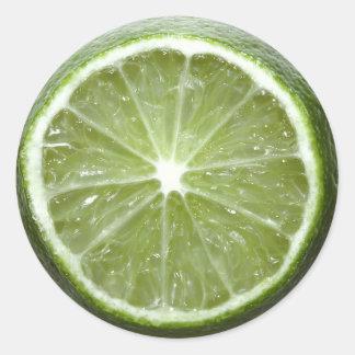 Lime Classic Round Sticker