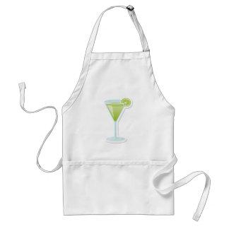 Lime cocktail apron