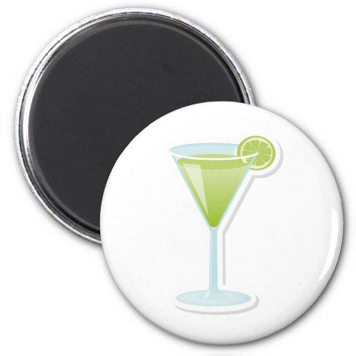 Lime cocktail refrigerator magnets