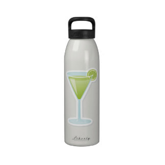 Lime cocktail water bottles