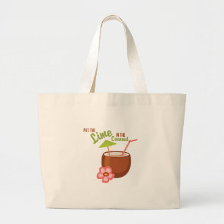 Lime Coconut Large Tote Bag