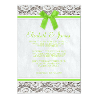 Lime Country Lace Wedding Invitations