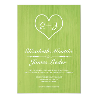 Lime Country Wedding Invitations