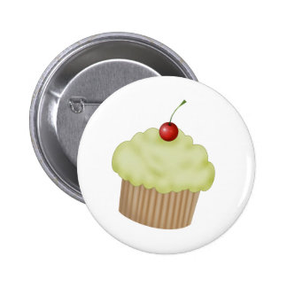 Lime Cupcake 2 Inch Round Button