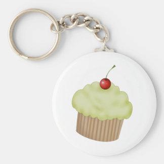 Lime Cupcake Basic Round Button Keychain