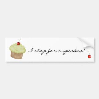 Lime Cupcake Car Bumper Sticker
