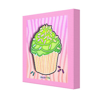 Lime Cupcake Gallery Wrapped Canvas